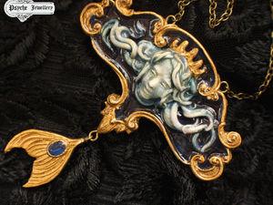 Young Poseidon.Кулон из полимерной глины.Готовая работа. Ярмарка Мастеров - ручная работа, handmade.