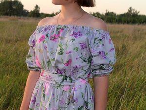 """Новая модель.Платье """"Аквилегия"""". Ярмарка Мастеров - ручная работа, handmade."""