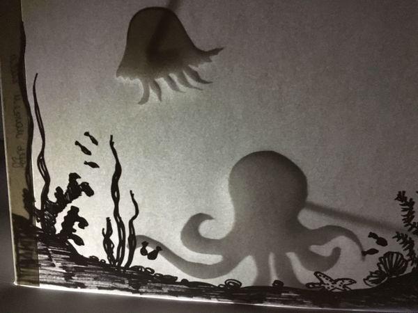Делаем за 30 минут театр теней на тему «Подводный мир» | Ярмарка Мастеров - ручная работа, handmade