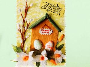 Создаем пасхальную открытку с цветами. Ярмарка Мастеров - ручная работа, handmade.