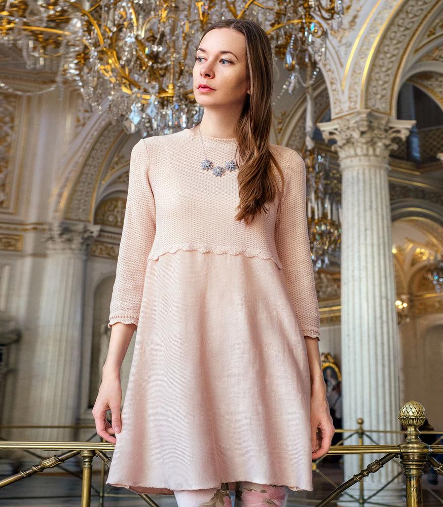 новинки магазина, готовая работа, модный цвет, вязаное платье