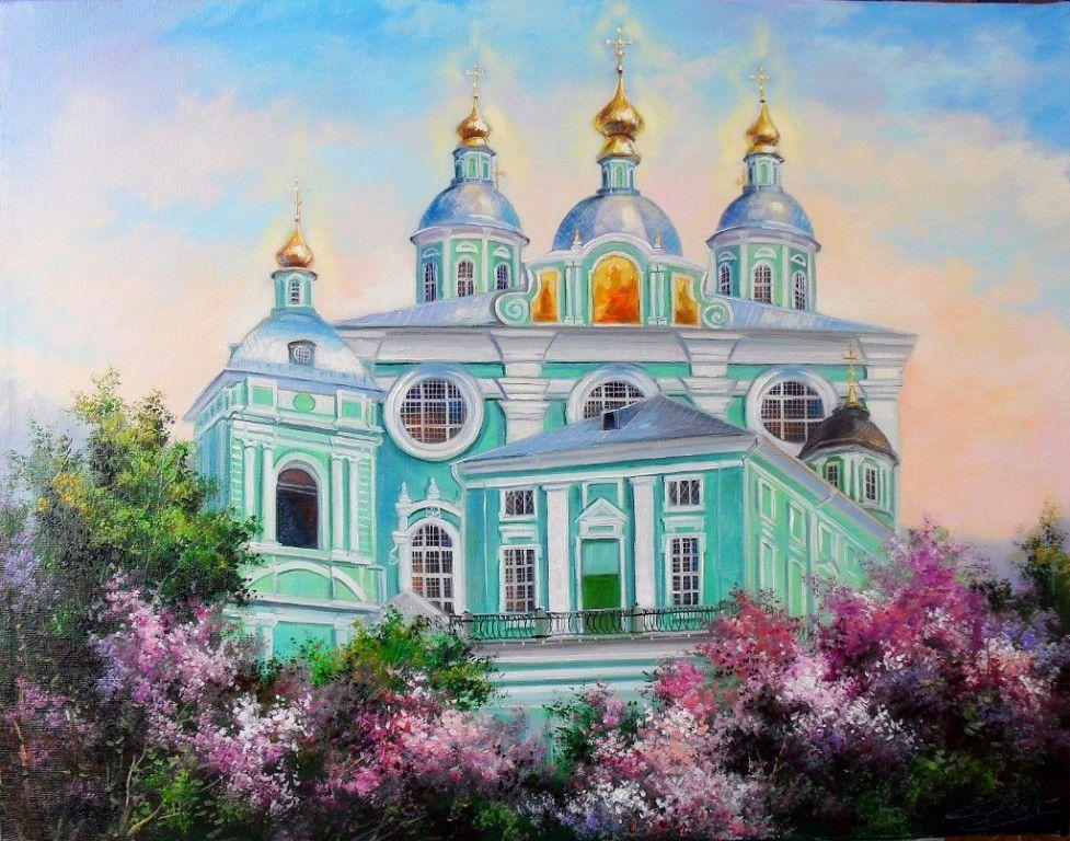 православный, вышивка, вышитые, картина вышитая, сирень, церковь, картина с церковью, картина с цветами, цветущая сирень, вышивка лентами, ленты атласные, христианство, нежность, светлый, сиреневый, лиловый, розовый, зеленый, травяной, подарок на православный