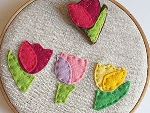 How to Easily Make a Brooch and a Felt Tulip Applique. Livemaster - handmade
