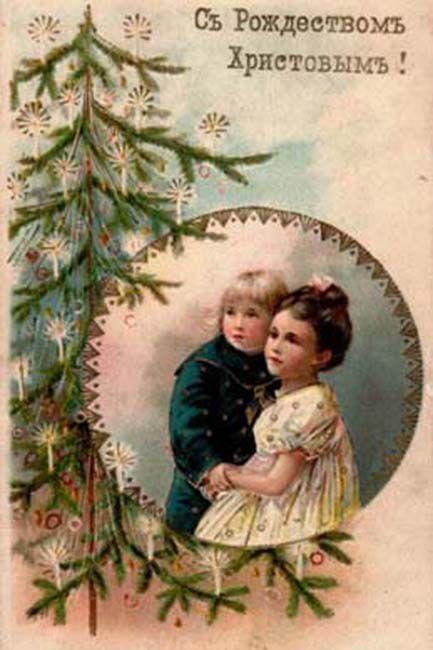 Старинные рождественские открытки: 35 трогательных изображений, фото № 29