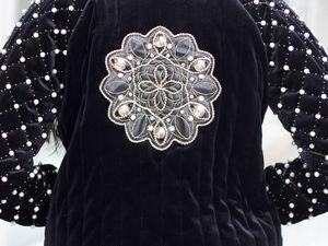Роскошная бархатная куртка с вышивкой бисером -70%. Ярмарка Мастеров - ручная работа, handmade.