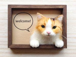 Сердитые котики: войлочные броши Mako. Ярмарка Мастеров - ручная работа, handmade.