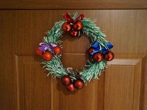 Создаем Рождественский венок на дверь. Ярмарка Мастеров - ручная работа, handmade.
