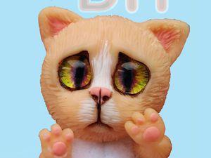 Видеоурок по созданию подвижной мини-игрушки. Кулон «Котенок». Ярмарка Мастеров - ручная работа, handmade.