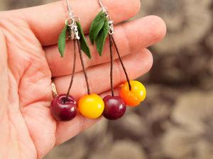 Видеоурок: серьги с ягодами черешни. Ярмарка Мастеров - ручная работа, handmade.