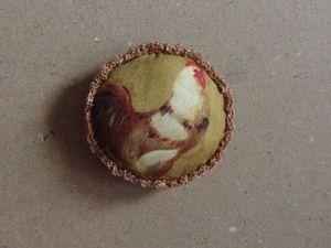 Легко и просто мастерим елочный шар с петухом. Ярмарка Мастеров - ручная работа, handmade.