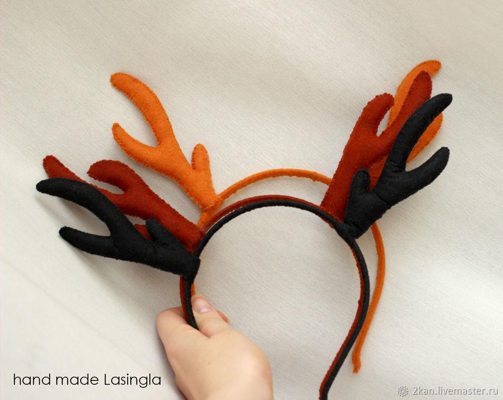 Рога оленя ободок своими руками 73