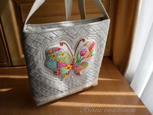 Сумка с бабочкой для Ирины. Персональный заказ. Ярмарка Мастеров - ручная работа, handmade.