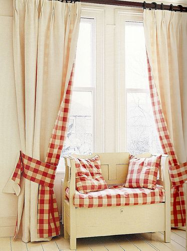 Katrin Cargill - pure and simple and so so pretty. Great idea for curtain edging