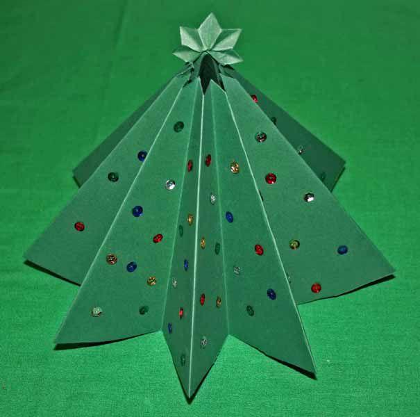 Новогодние елочки из бумаги - Ярмарка Мастеров - ручная работа, handmade