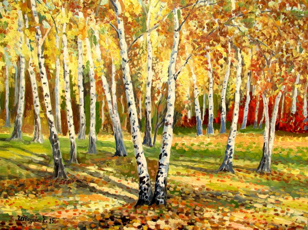 зимний пейзаж, авторская живопись