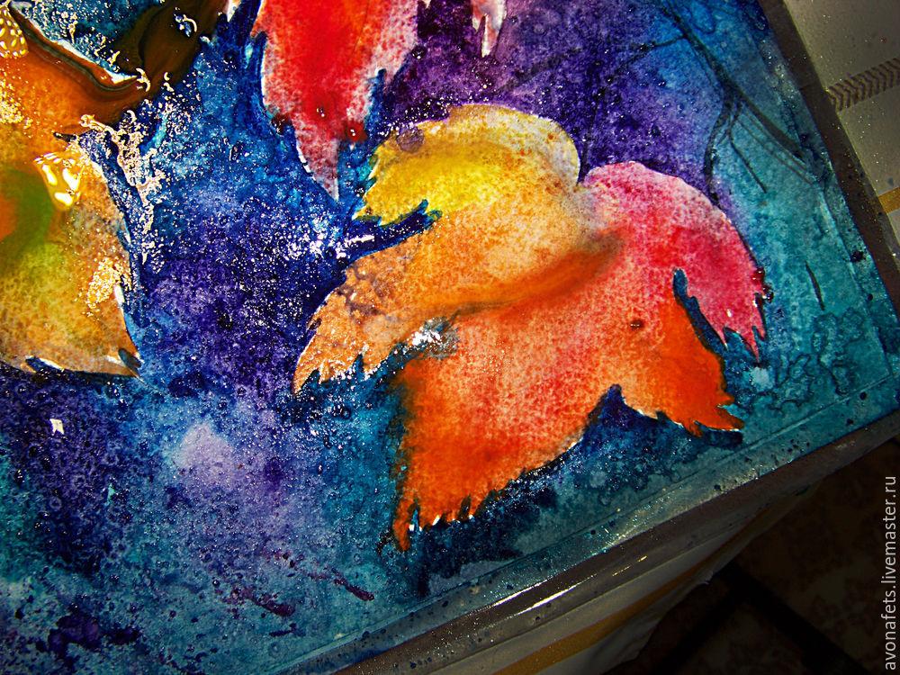 Осенний мастер-класс: акварель по-мокрому, фото № 14