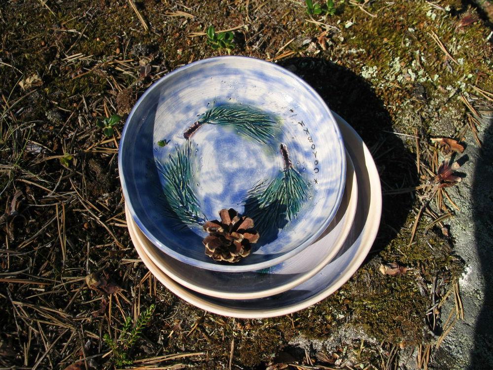 посуда с росписью
