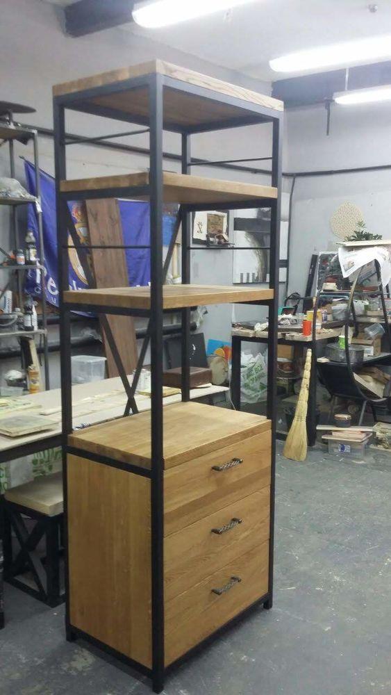 мебель лофт купить, стеллаж из дерева