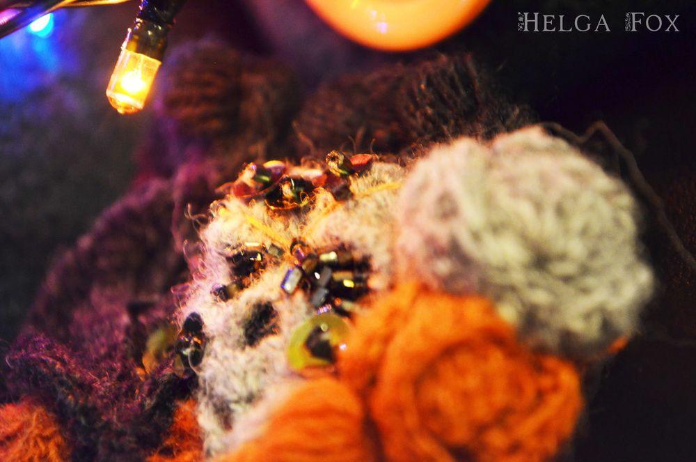 вязаная брошь, вязаный скелет, atelier crochet fox, готичная брошь, катрина калавера