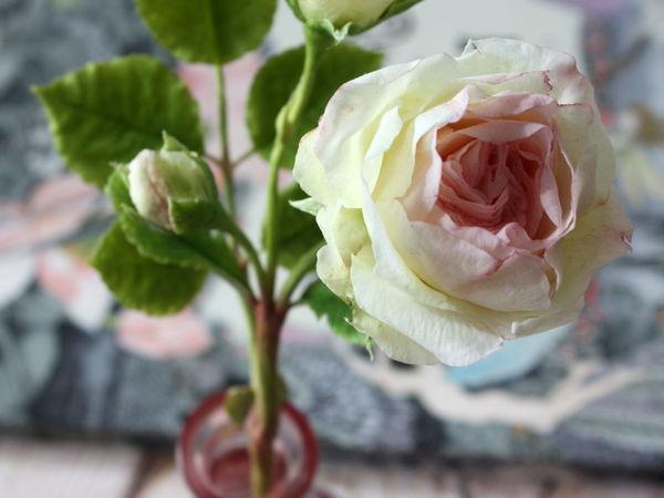 Лепка пионовидной кустовой розы из полимерной глины   Ярмарка Мастеров - ручная работа, handmade
