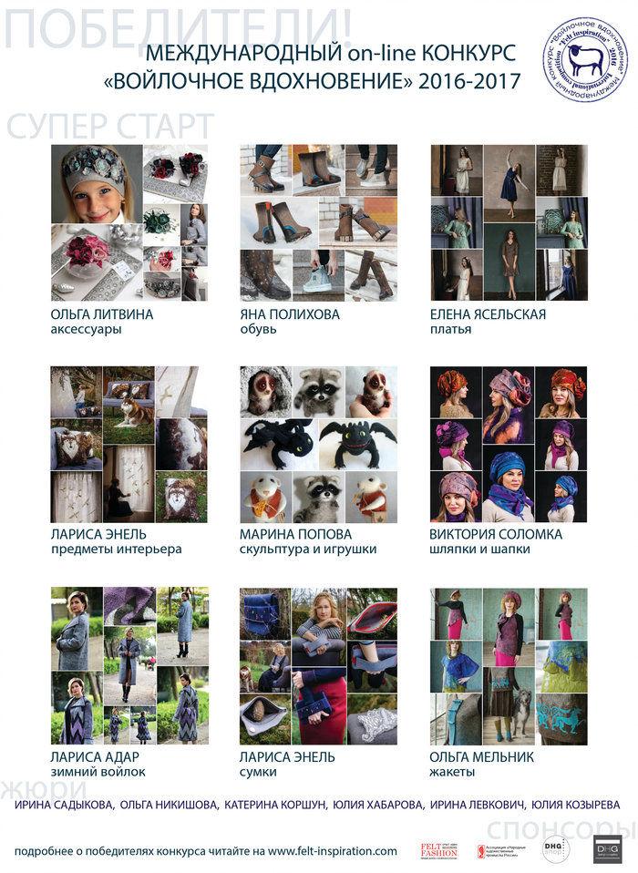 конкурс, победитель конкурса, felt fashion, felt-inspiration, супер старт