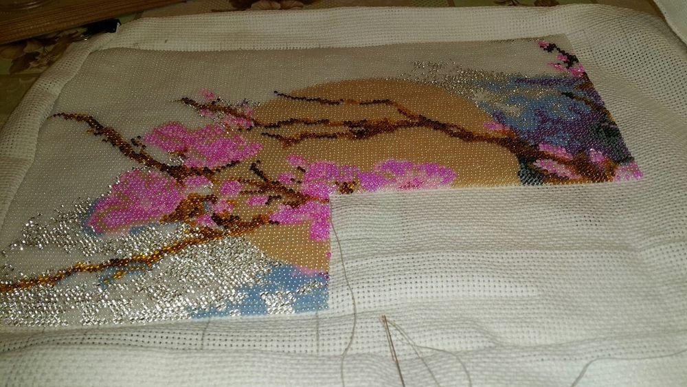схема вышивки сакура