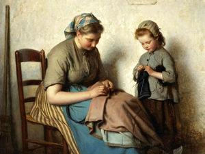 «Мы все учились понемногу...»: подборка живописи о рукоделии. Ярмарка Мастеров - ручная работа, handmade.