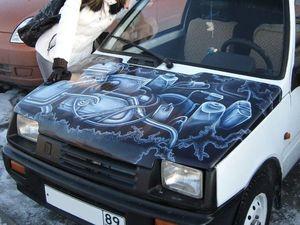 Аэрография на капоте автомобиля. Ярмарка Мастеров - ручная работа, handmade.