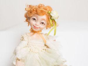 Мастерим куколку-цветочек. Ярмарка Мастеров - ручная работа, handmade.