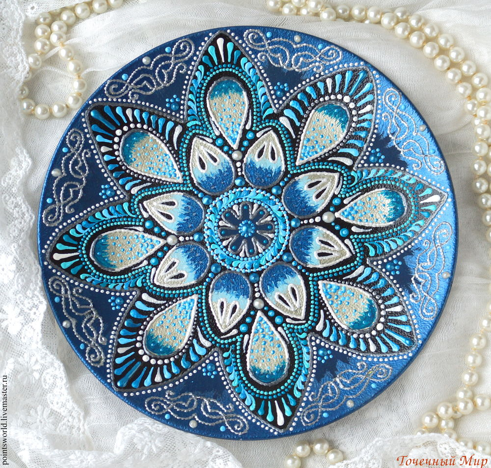 Мастер класс точечная роспись тарелок