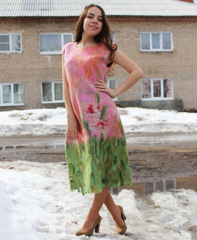 платье валяное