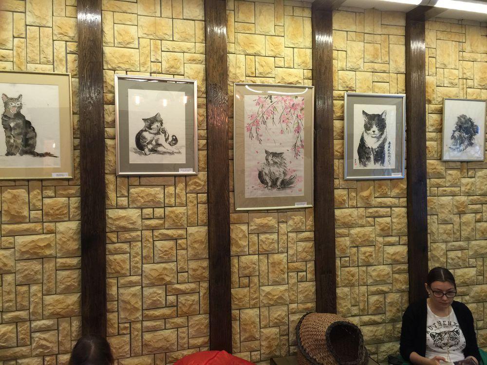 коты, японская техника, выставка-продажа, релакс, детям, тепло, настроение, японский стиль, рисунки, радость