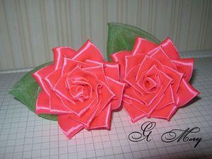 Изготавливаем розу канзаши: видео мастер-класс. Ярмарка Мастеров - ручная работа, handmade.