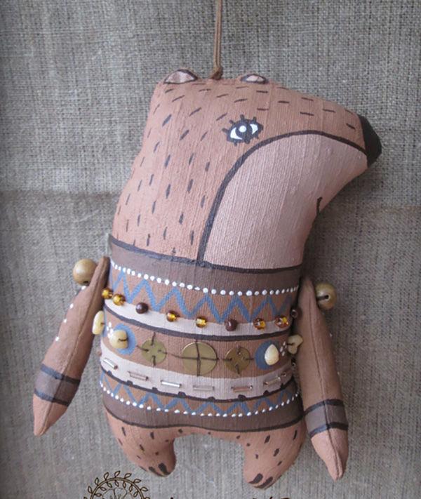 Игрушки в технике грунтованный текстиль
