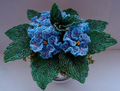 Цветок из бисера мастер класс пошаговое фото