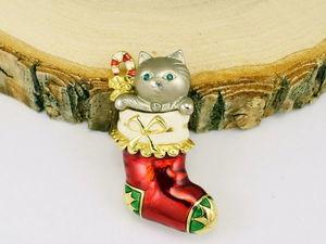 Винтажные украшения с любимыми котиками! Часть 2. Ярмарка Мастеров - ручная работа, handmade.