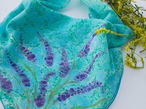 Скидка 20 % на платки из натурального шёлка. Ярмарка Мастеров - ручная работа, handmade.