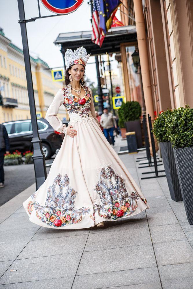 венчальное платье, платье в русском стиле