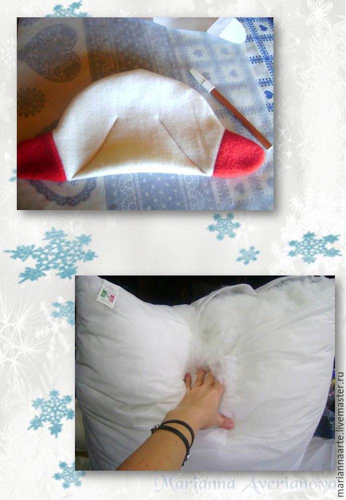 Мастер-класс по созданию забавной новогодней игрушки «Снеговичок-тюфячок», фото № 11