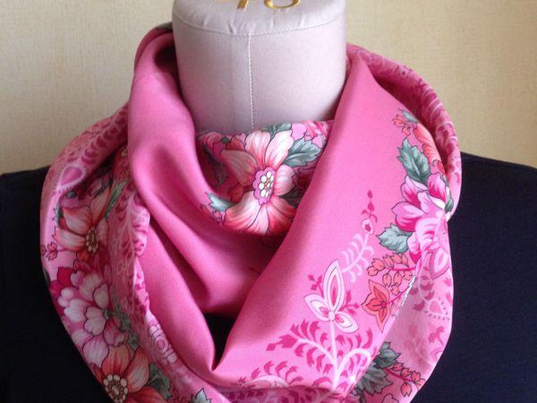 Сегодня скидка 20% на шелковые шарфы-снуды | Ярмарка Мастеров - ручная работа, handmade