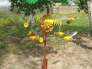 Make Funny Bees out of Plastic Bottles with Your Own Hands. Livemaster - handmade