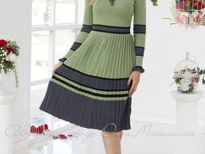Аукцион на вязаное платьице с юбочкой плиссе! Старт 2500 р. !. Ярмарка Мастеров - ручная работа, handmade.