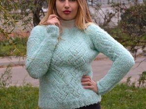 Распродажа!!! Чудесный мятный свитерок. Ярмарка Мастеров - ручная работа, handmade.