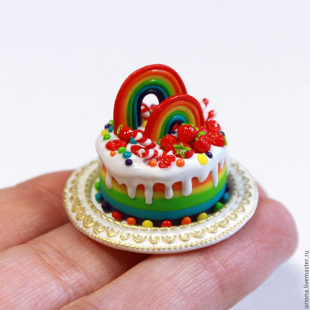 миниатюра, кулинарная миниатюра, торт для кукол, мк
