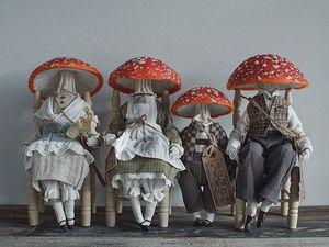 Жизнь мухоморов-эстетов: удивительные персонажи Yinyue Duzii. Ярмарка Мастеров - ручная работа, handmade.