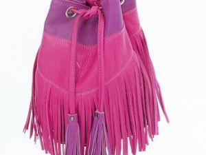 Шьем кожаную сумку-торбу с бахромой. Ярмарка Мастеров - ручная работа, handmade.
