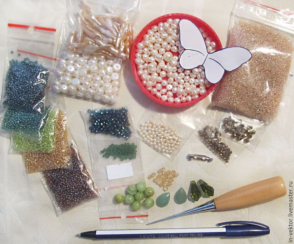 создание броши бабочки