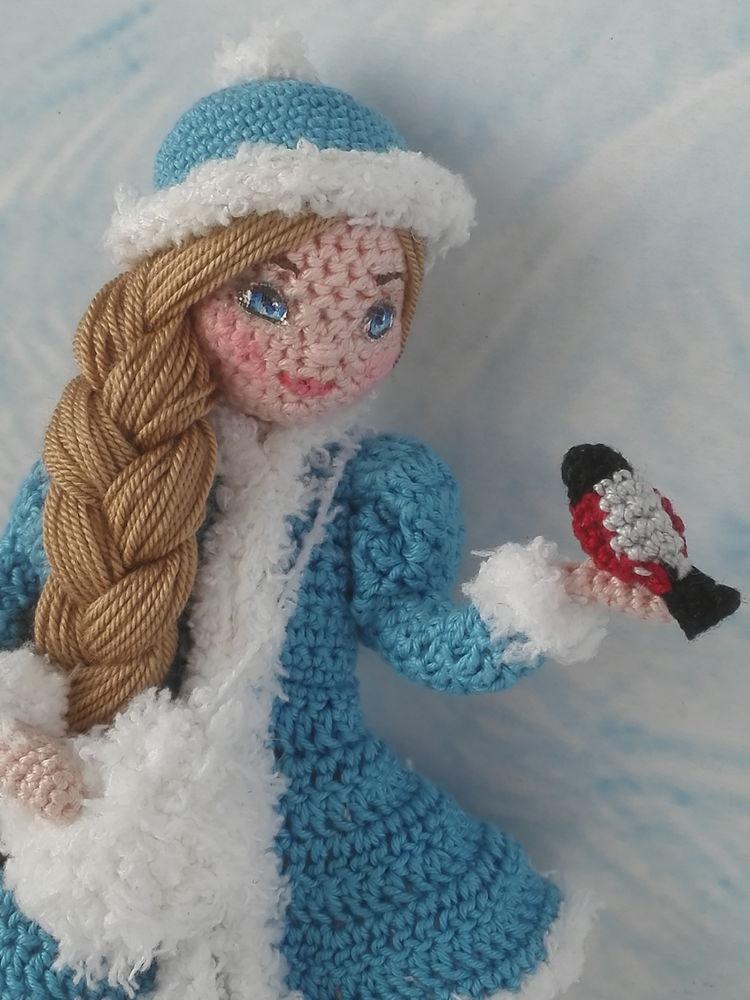 авторская работа, снегирь, вязание крючком