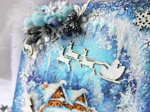 Мастер-класс по созданию новогоднего панно «Волшебная ночь». Ярмарка Мастеров - ручная работа, handmade.