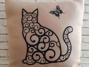 Кому подушку с кошкой?. Ярмарка Мастеров - ручная работа, handmade.